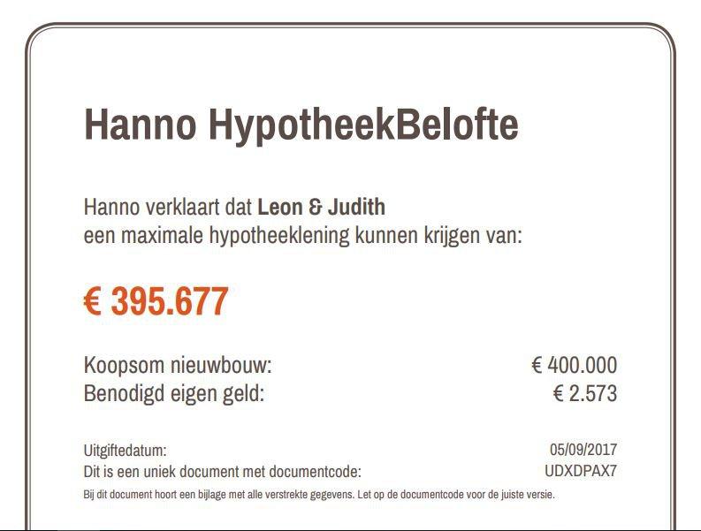 HypotheekBelofte demo