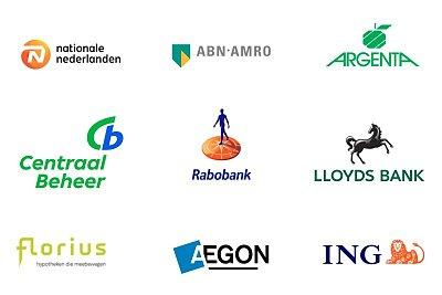Hypotheekverstrekkers vergelijken logos