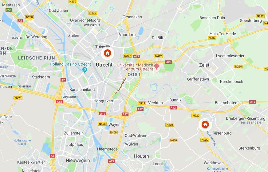 Google Maps Hanno Vestigingen
